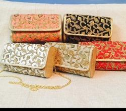 Designer  Zari Work Ladies Evening Clutches