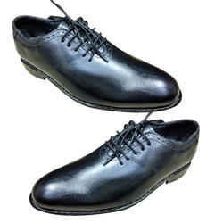 Mens Black Leather Sole Formal Shoes