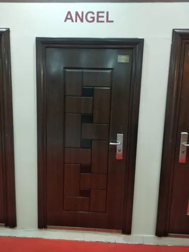 Brown Stainless Steel Single Bedroom Door For Home Size Dimension 2100mm Rs 18000 Piece Id 22448118812