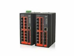 CTC UNION Black Industrial Managed Ethernet Switches IGS-1604SM
