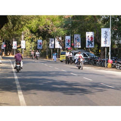 Outdoor Pole Kiosk Advertising Service, Coimbatore