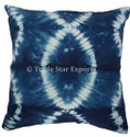 Natural Indigo Dye 100% Cotton Cushion Cover 16x16 Shibori Tie Dye Pillow Cover