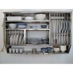Stainless Steel Wall Mounted Kitchen Shelf