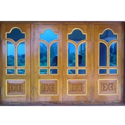 Natural Wood Color Modern Wooden Window