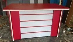 Red Wooden 4/2 Office Table