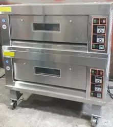 Double Deck Four Tray Gas Oven