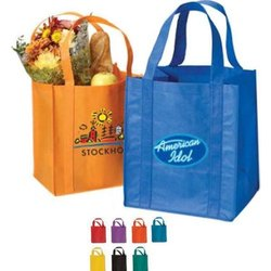 Loop Handle Moisture Proof Non Woven Grocery Bag, Capacity: 1-5 kg