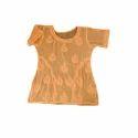 Ladies Orange Chikankari Top