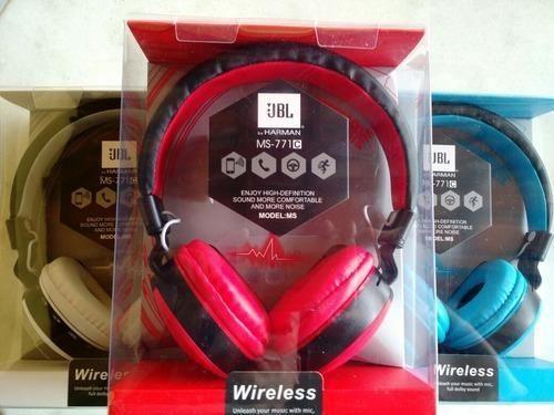 Red & Black Jbl Ms-771c Bluetooth Headphone