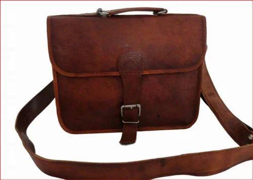 Brown Leather Passport Bag