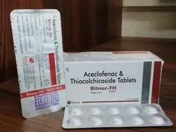 Acelofenac with Thiocholchicoside