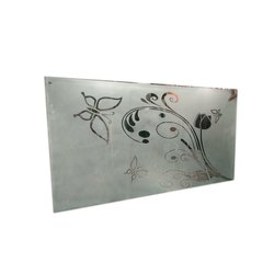 Rectangular Frosted Etched Glass