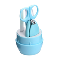 Infant and Toddler Blue Grooming Kit with Scissors