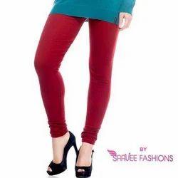 Women Plain Stretchable Cotton Legging, Size: XL