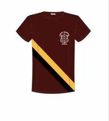 Plain Cotton Red School Summer T-Shirt