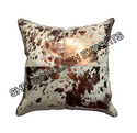 Abstract Silver Print Foil Leather Cushion Covers