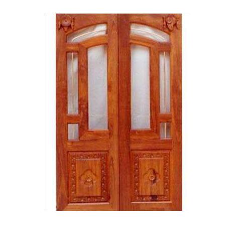 Gentil Mahalsa Teak Wood Paneled Interior Door