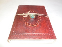 Genuine Leather Binding Journal with Stone