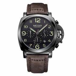 Megir 3406-black Analog-chronograph Watch For Men