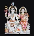 White Hindu Indian Marble Shiva Parivar Statue, For Worship, Size: 12 To 66 Inch