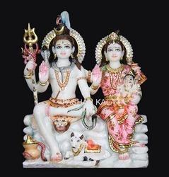 Indian Marble Shiva Parivar Statue