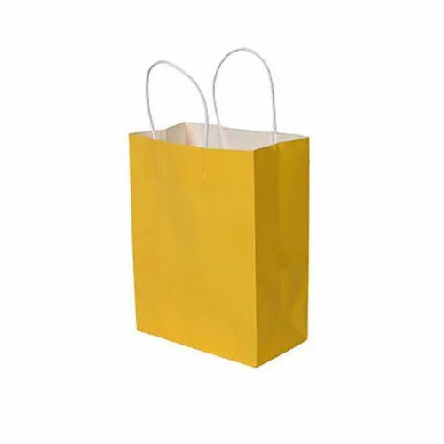 039e717bb9d Yellow Plain Paper Bag at Rs 15  piece