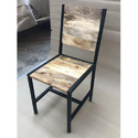 Iron Base Wooden Top Chair