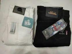 Lycra Plain Men Jeans White, Waist Size: 28-32