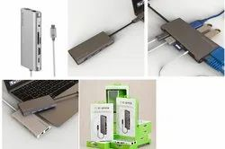 USB-C to USB 3.0 Hub  Gigabit Ethernet HDMI (4k) & VGA Adapter with PD Charging (100W)