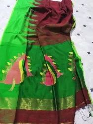 Pure Motka Silk Saree