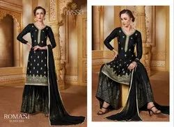Rayon Semi-Stitched Nyssa Designer Sharara Suit, Dry clean