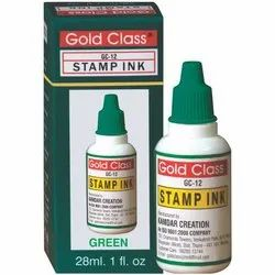 Gold Class 28 ml Green Self Stamp Ink