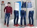 Hanex Basic Slim Fit Jeans For Men