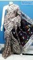 Party Wear Batik Printed Silk Saree