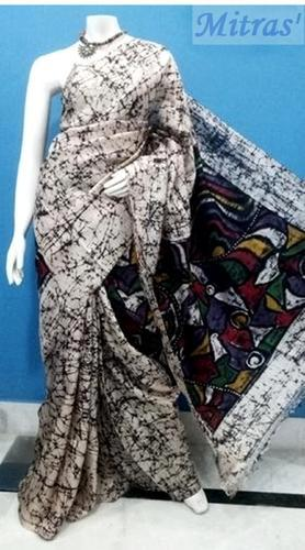 cb9537e83a Silk Batik Printed Saree With Blouse Piece, Rs 2650 /piece | ID ...