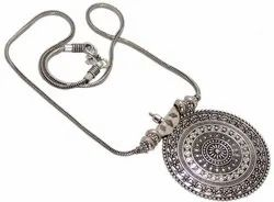 Amora White Silver Nynthara Pendant Chain, Packaging Type: Packed With Perfect Packet, Size: Medium