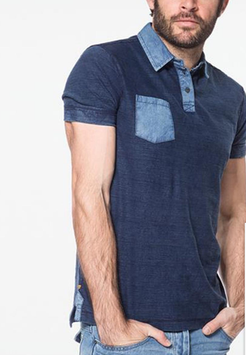 91b2e4be Mens sample T-shirt - Blue Real Indigo Polo T Shirt Manufacturer ...