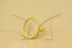 Flower Style Thewa Finger Ring