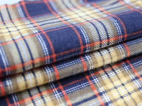 Tissus de flanelle à carreaux certifiés GOTS à Rs 195 / mètre   Tissu Flanelle   ID: 15103036112
