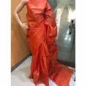 Silk Orange Saree