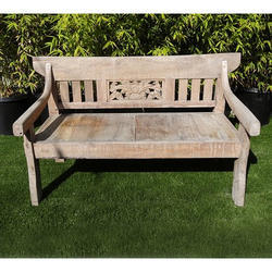 Sun Bleached Teak Benches
