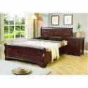Wooden Brown Designer Double Bed, Warranty: 5 Year