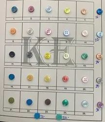 Round Polyester button, For Shirt, Packaging Type: Packet
