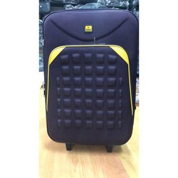 Blue Polyester Trolly Suitcase, For Travelling, 2