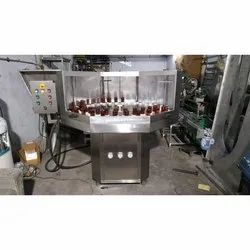 Jayveer Machinery Automatic Rotary Bottle Washing Machine, Production Capacity: 100 Bpm