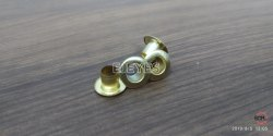 No. 600 (6mm) Brass Flat Eyelets & Washers Golden