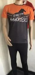 Half Sleeves Logo Sports T-Shirt and Lower, Packaging Type: Packet