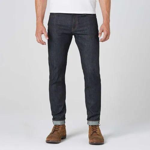 Black Plain Mens Skinny Slim Raw Denim Jeans Rs 650 Piece Id