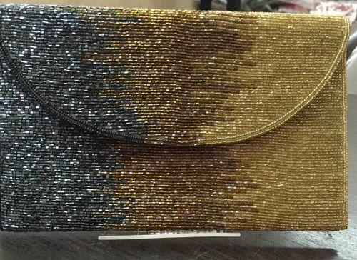Flap Clutch Beaded Bag Rs 900