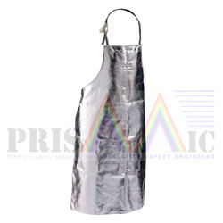 Free Size Silver Insulated Apron, for Construction